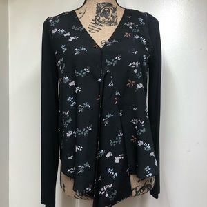 Ivanka Trump Long Sleeve Floral Top Size Small